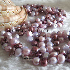 "52"" 5-6mm Multi Color Baroque Freshwater Pearl Necklace"