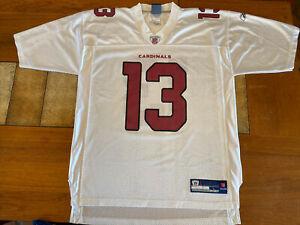 Kurt Warner Arizona Cardinals Reebok Jersey Large NFL football white