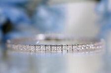 10 Ctw Princess Cut Tennis Bracelet 14K White Gold Over Sterling Silver 8'' inch