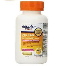 Equate Fiber Therapy 100% Natural Psyllium Husk Fiber 160 Capsules