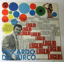 """RICCARDO DEL TURCO - LUGLIO - IL TEMPORALE - 45gg 7"""" NUOVO"""