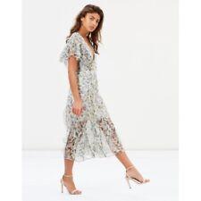 TALULAH Midi Dress Size 8 (worn once) RRP $350 100% SILK
