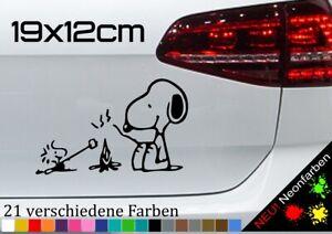 Snoopy & Woodstock Aufkleber Charlie Brown Sticker Peanuts Dog Hund JDM 19x12cm