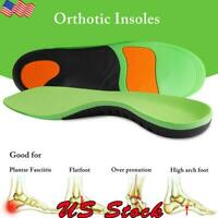 Orthotic Insoles Flat Foot High Arch Heel Support Plantar Feet Inserts Pads Gel