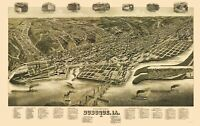 Dubuque Iowa - Wellge 1889 - 23.00 x 36.58