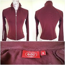 EDC by Esprit Ladies Red Track Suit Top Size: S
