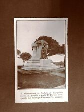 Tarquinia 11 maggio 1924 Inaugurazione monumento ai Caduti Tibaldi e Parini