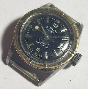 Vintage ladies 25 Jewel Rotary divers 150m/450 feet automatic watch,rare,working