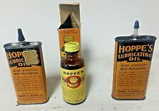 vintage lot hoppes 2 oilers and # 9 solvent handyman tin