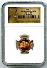 2009 P US MINT CENT BIRTH AND CHILDHOOD NGC MS67 RD LINCOLN LABEL