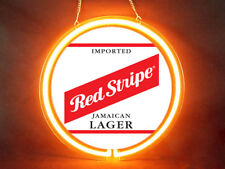 Red Stripe Beer Hub Bar Display Advertising Neon Sign