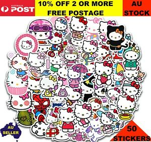 HELLO KITTY Stickers x 50 Party Loot Bag Diary School Books Stickers
