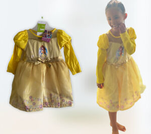 NEW Disney Princess Belle beauty & the beast fancy dress up costume outfit party