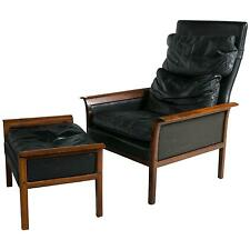 Otto Hans Olsen for VATNE MOBLER Rosewood Chair and Ottoman 101-2355