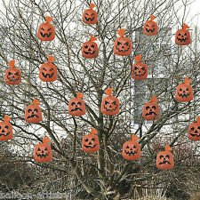 20 Orange Hanging Pumpkin Haunted Halloween Garden Decorations