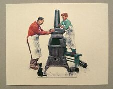 Vintage Norman Rockwell The Coal Season's Coming Embossed Print 1