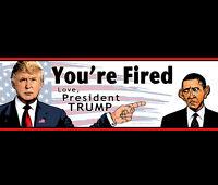 Bumper Sticker - Obama, You're Fired • Love, President Donald Trump • 2016, 2020
