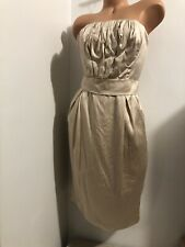 Sz 42 / US 6 Dolce&Gabbana  strapless corset Silk Dress