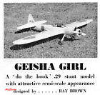 "Stunt Plans: Geisha Girl 54"" Span Japanese Zero Look by Ray Brown (1960)"