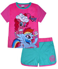 Girls My Little Pony Set T-shirt and Shorts Set 2 PACK Pink Age 2 3 4 5 6 7 Year