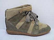 ISABEL MARANT $695 Bluebel taupe suede hidden wedge sneakers size 39 WORN ONCE