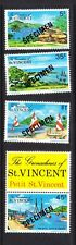 St. Vincent 1975 Tourism - Specimen Overprints MNH