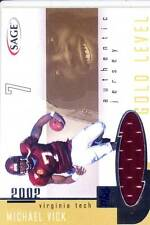 michael vick jersey patch virginia va tech hokies college #/25 2002