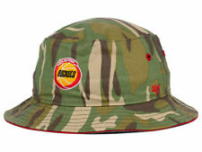 HOUSTON ROCKETS '47 NBA HWC Woodrow Bucket WOODLAND CAMO HAT CAP L XL THROWBACK
