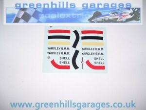 Greenhills Scalextric Yardley BRM Stripes & Decals for C51