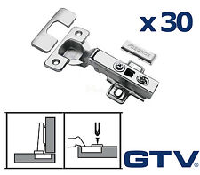 30x GTV Soft Close Kitchen Cabinet Cupboard Door Hinge Hinges Euro Plate Screws