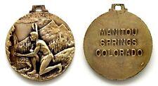 Medaglia Manitou Springs Colorado USA Metallo Argentato cm 3,2 Peso g 13,5