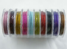 100M(10Roll) Colour Tiger Tail Beading Cord Wire 0.38mm K4-K6
