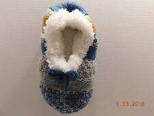 SONOMA Goods for Life Cable Knit Fuzzy Babba Ballerina Slippers Sz M / L NWT