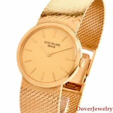 Patek Philippe Geneve 18K Yellow Gold 25mm Ladies Watch 55.9 Grams NR