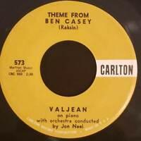 Valjean | Theme From Ben Casey | Theme From Ben Kildare | 1962 Carlton Vinyl 45R
