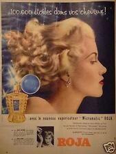 PUBLICITÉ 1958 ROJA FLORE LE NOUVEAU VAPORISATEUR MICROMATIC - ADVERTISING