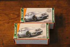 2018 MATCHBOX POWER GRABS '17 HONDA CIVIC HATCHBACK 1:64 TWO CAR LOT IN BOXES