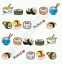 Sushi Nail decals (water decals) Kawaii Nail art