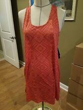 SmartWool Women's Basic Merino 150 Pattern Dress - Bright Coral NWT $90 Sz XL