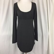 Moda International Victorias Secret Dress Size Large Gray Scoop Neck Ruched