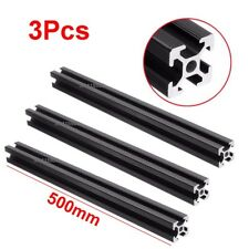 3Pcs 400mm T-Slot 6mm Black 20x20Aluminum Profile Extrusion Frame For 3D Printer