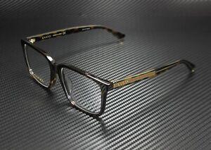 GUCCI GG0385Oa 002 Rectangular Havana Crstl Hvna Demo Lens 55mm Men's Eyeglasses