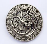 Game of thrones Dragon Belt Buckle Antique silver color cosplay US Seller