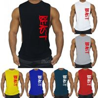 Men Muscle Sleeveless Shirt Tank Top Bodybuilding Gym Singlet Fitness Sport Vest