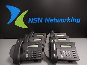Lot of 6x Shoretel IP210 SIA IP VoiP Black Display Phone Base Stand