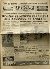 Journal l'Equipe n°4434 - 1960 - Rivière Nencini Adriaenssens  - T France -