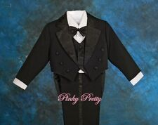 5 pcs Baby Boy Tuxedo Formal Suit Wedding Pageboy Christening Age 6 months-7 Yrs