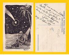 # SOLDATO ITALIANO IN LIBIA- dis. in china (originale) firmata da V. BULLO 1919