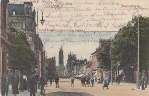 Cartolina Renania Settentrionale Westfalen Crefeld Rheinstrasse 1902
