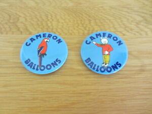 CAMERON BALLOON BADGES - RUPERT BEAR AND PARROT